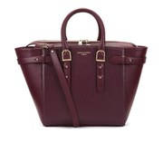 Aspinal of London Women's Marylebone Medium Tote Bag - Burgundy Saffiano