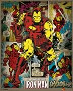 Marvel Comics Iron Man Retro - 16 x 20 Inches Mini Poster