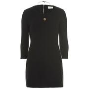 nümph Womens Black Tunic Dress - Caviar