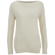 nümph Women's Jumper with Ribbed Edges - Birch