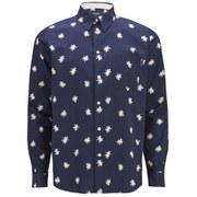 Paul Smith Jeans Men's Poplin Star Print Shirt - Navy