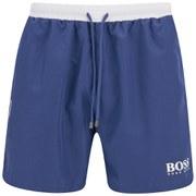 BOSS Hugo Boss Men's Starfish Small Logo Swim Shorts - Blue