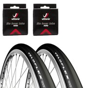 Veloflex Corsa 25 Clincher Road Tyre Twin Pack with 2 Free Tubes - Black 700c x 25mm