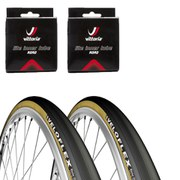 Veloflex Master 25 Clincher Road Tyre Twin Pack with 2 Free Tubes - Black 700c x 23mm