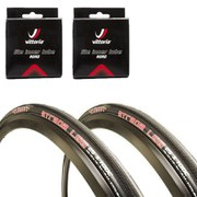 Clement Strada LGG Clincher Road Tyre Twin Pack with 2 Free Tubes 120 TPI - Black - 700c x 25mm