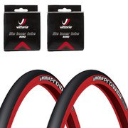 Michelin Pro4 Comp V2 Clincher Road Tyre Twin Pack with 2 Free Inner Tubes - Red - 700 x 23c