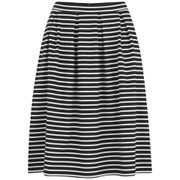 VILA Women's Jaeger Stripe Midi Skirt - Black