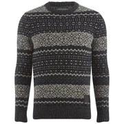 Superdry Men's Copenhagen Fairisle Knitted Jumper - Navy/Cream