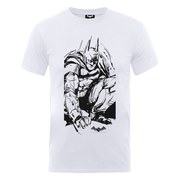 DC Comics Batman Arkham Knight Sketch Men's T-Shirt - White