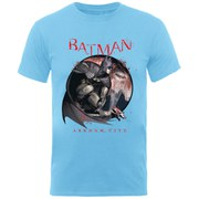 DC Comics Batman Arkham Circle Men's T-Shirt - Light Blue