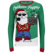 Conspiracy Men's Rappin' Christmas Jumper - Green