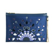 Matthew Williamson Women's Flat Pouch Clutch Bag - Navy