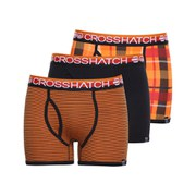 Crosshatch Men's Tirian Printed 3 Pack Boxers - Mandarin