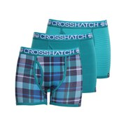 Crosshatch Men's Tirian Printed 3 Pack Boxers - Viridian