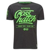 Crosshatch Men's Squirm T-Shirt - Black Marl