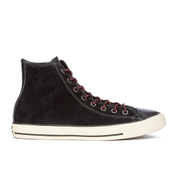 Converse Men's Chuck Taylor All Star Suede/Leather Hi-Top Trainers - Black/Papaya/Turtle