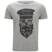Jack & Jones Men's Skunny T-Shirt - Light Grey Melange