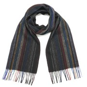 Paul Smith Accessories Men's Wool Stripe Scarf - Black/Multi