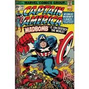 Marvel Retro Captain America Madbomb - 24 x 36 Inches Maxi Poster