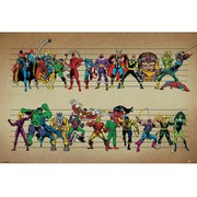 Marvel Comics Line Up - 24 x 36 Inches Maxi Poster