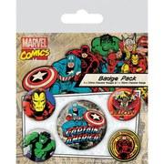 Marvel Retro Captain America - Badge Pack