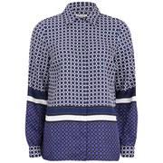 MICHAEL MICHAEL KORS Women's Durie Border Shirt - Iris/Royal Purple