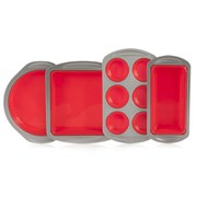Living ARG8617323 4 Piece Silicone Bakeware Set - Red