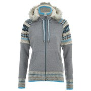 Superdry Women's Retro Knitted Panel Zip Through Hoody - Grey Marl Grit