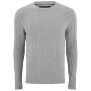 Tommy Hilfiger Men's Cable Knit Lambswool Jumper - Stone