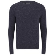 Tommy Hilfiger Men's Crew Neck Lambswool Knit - Navy