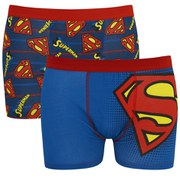 Superman Men's 2 Pack Boxers - Blue