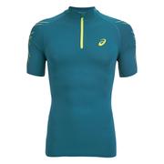 Asics Men's IM 1/2 Zip Running T-Shirt - Mosaic Blue