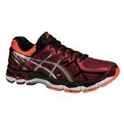 Asics Men's Gel Kayano 21 Running Shoes - Deep Ruby/Silver/Hot Orange
