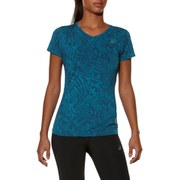 Asics Women's Allover Graphic Running T-Shirt - Mosaic Blue Palm