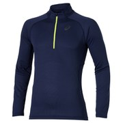 Asics Men's Long Sleeve 1/2 Zip Running Top - Indigo Blue