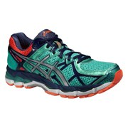 Asics Women's Gel Kayano 21 Running Shoes - Aqua Mint/Silver/Indigo Blue