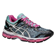 Asics Women's Gel Kayano 22 Lite Show Running Shoes - Aqua Splash/Silver/Pink Glow
