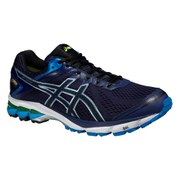 Asics Men's GT 1000 4 G-TX Running Shoes - Indigo Blue/Black/Flash Yellow