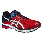 Asics Men's GT 1000 4 Running Shoes - Fiery Red/White/Black