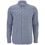 Lacoste L!ve Men's Long Sleeve Triangle Print Shirt - Blue