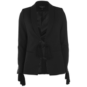 Lavish Alice X Lindsay Lohan Women's Tassel Sleeve and Waist Blazer - Black