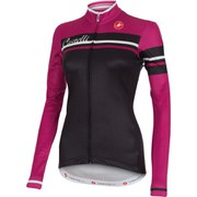 Castelli Women's Girone Long Sleeve Jersey - Black/Pink