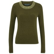 French Connection Women's Ruby Knits Jumper - Turtle/Gold Foil