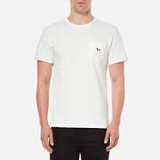 Maison Kitsuné Men's Tricolor Fox Patch T-Shirt - White