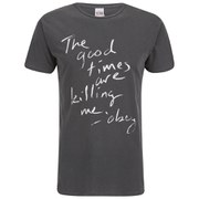 OBEY Clothing Men's Good Times Short Sleeve T-Shirt - Dusty Black