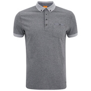 BOSS Orange Men's Patches 1 Button Down Polo Shirt - Grey