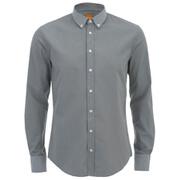 BOSS Orange Men's Edipoe Long Sleeve Shirt - Grey