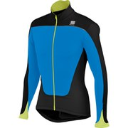Sportful Force Thermal Long Sleeve Jersey - Electric Blue/Black/Yellow Fluo