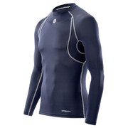 Skins Men's Carbonyte Thermal Long Sleeve Round Neck Baselayer - Navy