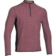 Under Armour Men's ColdGear Infrared Survival Long Sleeve 1/4 Zip Fleece - Deep Red